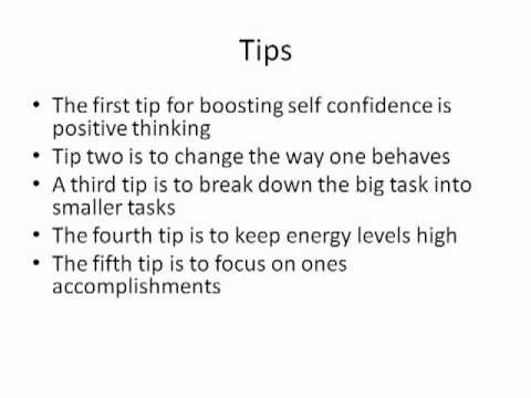 Boosting Self confidence-The 5 Secrets To Help To Boost Self Confidence