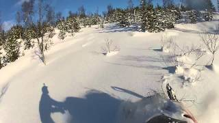 1. yamaha phazer mountain lite in powder snow