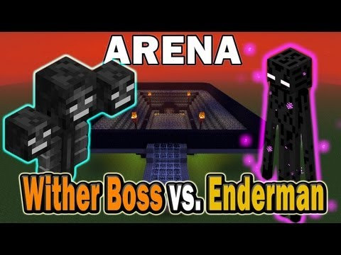 Minecraft Arena Battle Wither Boss vs. Enderman