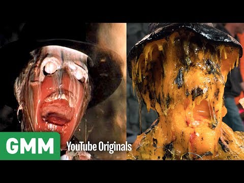 Raiders of The Lost Ark Face Melt Scene w/ CHEESE