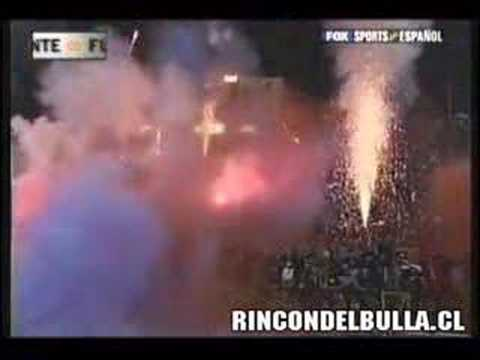 Video - Salida U.de Chile vs River Plate 1996 - Los de Abajo - Universidad de Chile - La U - Chile