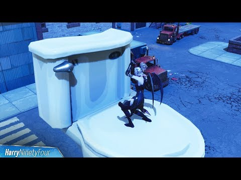 "Fortnite Battle Royale - All ""Dance On Top Of"" Locations (Clock Tower, Pink Tree, Porcelain Throne)"