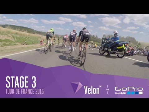 Watch: On-bike footage from stage three of the Tour de France