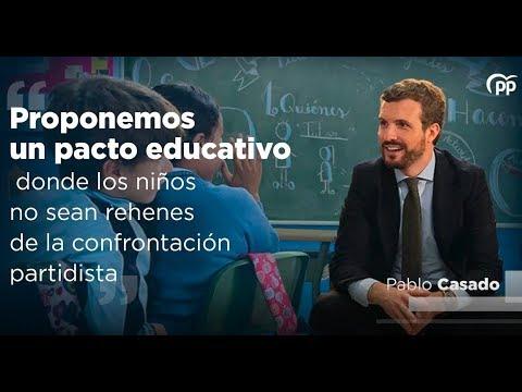 Proponemos un pacto educativo