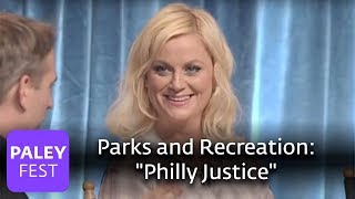 "Parks and Recreation - Amy Poehler Explains ""Philly Justice"""