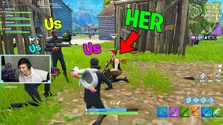 She was the nicest DEFAULT SKIN, then she CARRIED us..  (Fortnite Challenge w/ Queeane)