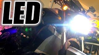 9. LED Headlight FZ-07 (& WR450f) Installation, Review