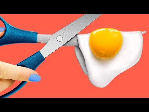 Обычная еда против бумажной и парафиновой! Челлендж! (видео)