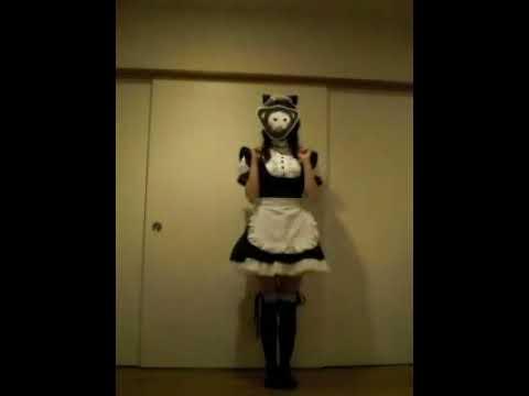 猫耳メイドで猫パンチ体操!!