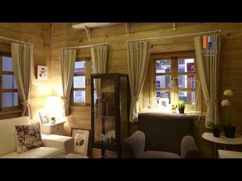 บ้านไม้ - บ้านสำเร็จรูปไม้สน สไตล์นิวอิงแลนด์ 1ห้องนอน, 1ห้องน้ำ, ห้องนั่งเล่น, ระเบียง Sunshine-7...