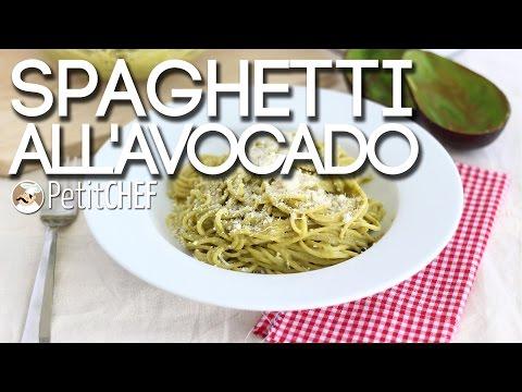 spaghetti con crema di avocado - ricetta vegana
