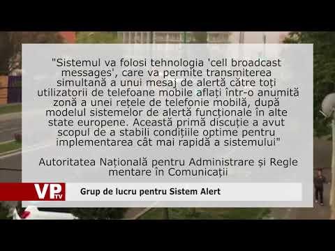 Grup de lucru pentru Sistem Alert