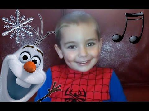 Enfant 3 ans chante Je Voudrais un bonhomme de neige - La Reine des Neiges - Frozen (Cover)