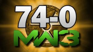MW3 74-0 Gameplay M.O.A.B. Nuke FLAWLESS!