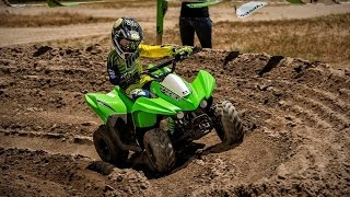 6. 2016 Kawasaki KFX 50 - 50cc four wheeler = youth atv