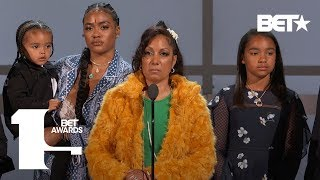 Lauren London, Angelique Smith & Family Accept Nipsey Hussle's Humanitarian Award | BET Awards 2019