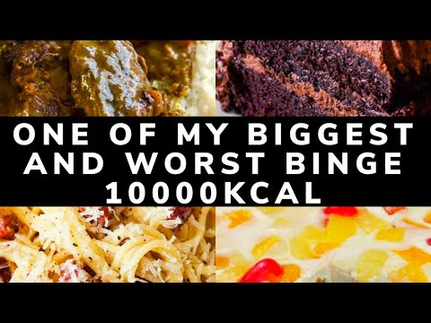 TW one of my biggest and worst binge | eating disorder | filming my binge | 10000kcal