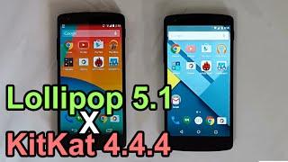 Video Android Lollipop 5.1 vs KitKat 4.4.4 - Performance Comparison (Nexus 5) MP3, 3GP, MP4, WEBM, AVI, FLV Desember 2018