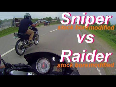 Suzuki Belang vs Yamaha LC dragrace  (both modified stock bore)