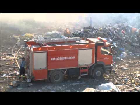 12 Eylül 2015 Milas şehir çöplüğünde yangın