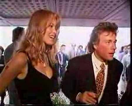Jean-Claude Van Damme vs Claudia Schiffer 1992 Cannes
