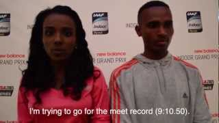 2013 New Balance Indoor Grand Prix Press Conference - Tirunesh Dibaba