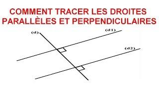 Maths 6ème - Les Bases De La Géométrie : Droites parallèles et perpendiculaires Exercice 5