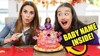 BABY NAME REVEAL IN CAKE! w/ Rosanna Pansino!