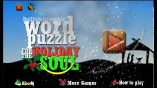 WORD PUZZLE for the HOLIDAY YouTube video