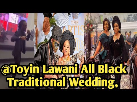 What Nollywood Family and Bbnaija Laycon Did @ Toyin Lawani All Black Traditional Wedding