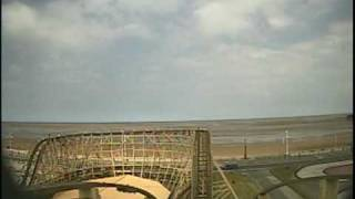 Southport United Kingdom  City new picture : Cyclone Wooden Roller Coaster Front Seat POV - Pleasureland, Southport, UK