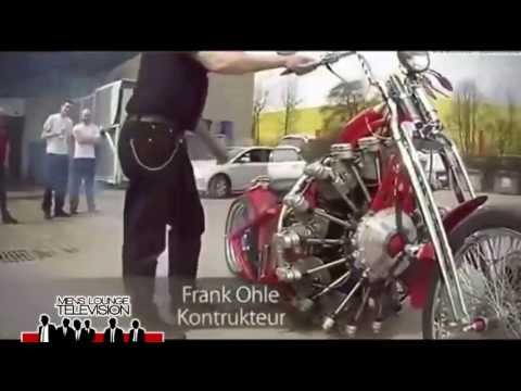 Red Baron Bike with airplane engine