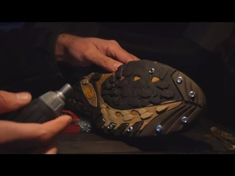 Making Emergency Ice Cleats For Cheap