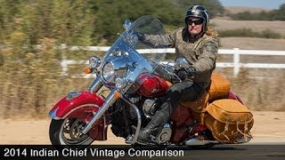5. 2014 Indian Chief Vintage Vs. Harley Heritage Softail Part 1 - MotoUSA