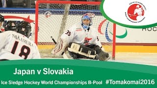 Tomakomai Japan  city pictures gallery : Japan v Slovakia | Prelim | 2016 Ice Sledge Hockey World Championships B-Pool, Tomakomai