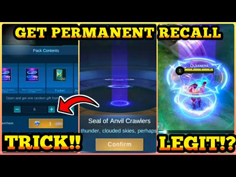 "TRICK! HOW TO GET RECALL EPIC ""SEAL OF ANVIL"" USE PROMO DIAMOND 