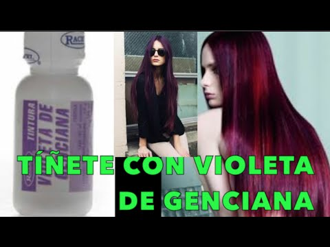 Tiñete de Morado/Azul/Rosa con VIOLETA DE GENCIANA / How To Dye Your Hair Purple