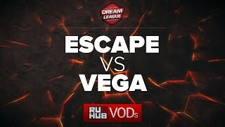 Escape Gaming vs Vega Squadron, DreamLeague Season 6, game 1