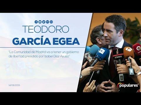 """García Egea: """"la Comunidad de Madrid tendrá un gobierno de libertad presidido por Díaz Ayuso"""""""