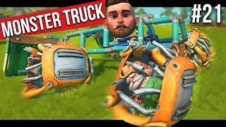 I BUILT A MONSTER TRUCK!! - SCRAP MECHANICS SURVIVAL #21