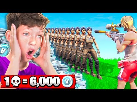 1 Elimination = 6,000 *free* V-Bucks With My Little Brother (Fortnite Battle Royale) - Thời lượng: 15 phút.