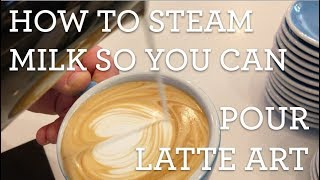 Video How to steam milk so you can pour latte art MP3, 3GP, MP4, WEBM, AVI, FLV Agustus 2018