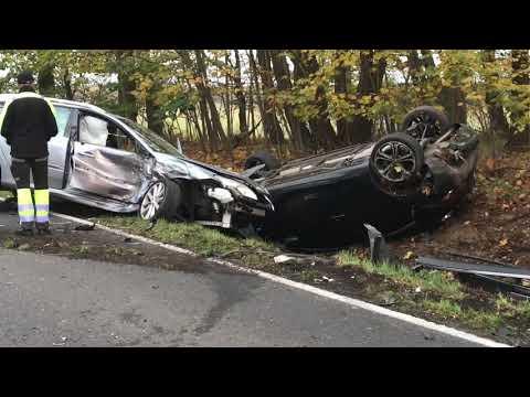 Wideo: Wypadek na trasie Lubin - Ścinawa