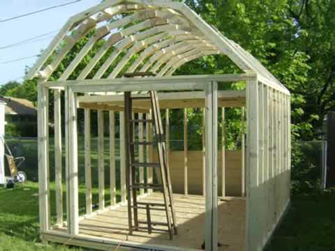 Building a gambrel shed