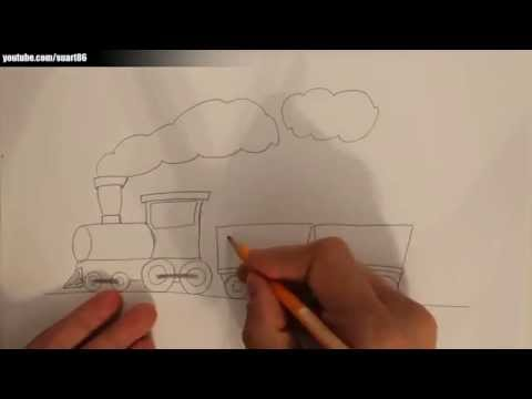 How to draw a train easy