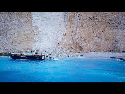 Ναυάγιο Ζακύνθου: Κατάπτωση βράχων στη θάλασσα – Τρεις τραυματίες…