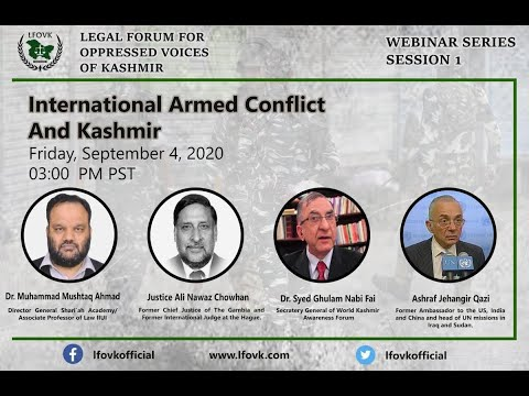 International Armed Conflict And Kashmir | Webinar Session-1