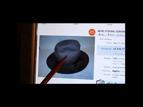 Picker Q & A #1 – Men's Vintage Hat Felt Fur Fedora – Cherry Vintage Ebay 2013