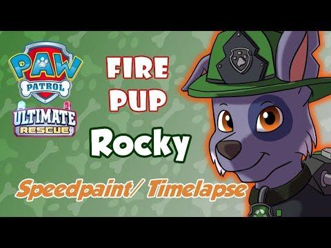Paw Patrol Ultimate Rescue: Fire Pup - Rocky (Speedpaint/ Timelapse)