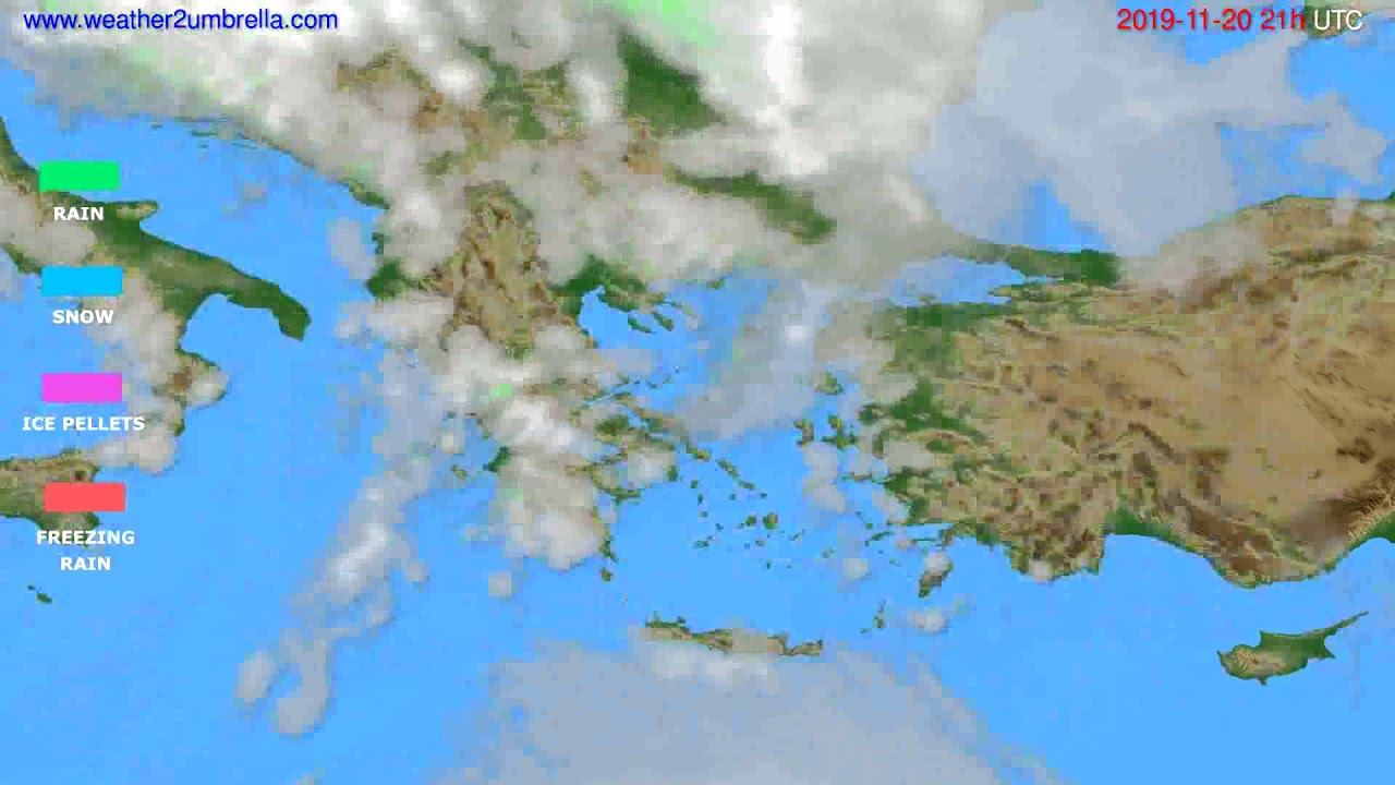Precipitation forecast Greece // modelrun: 12h UTC 2019-11-19